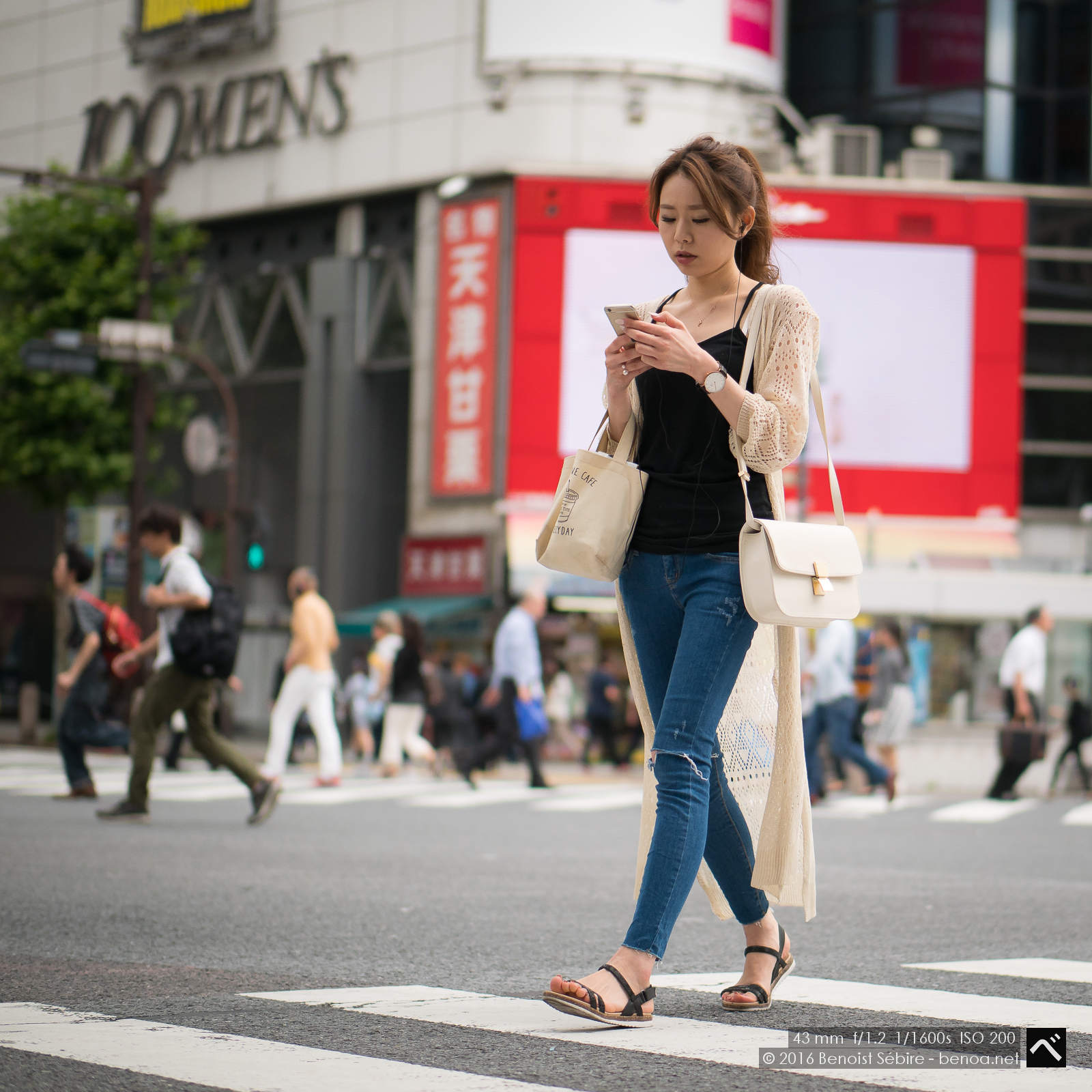 Shibuya Crossing Girl