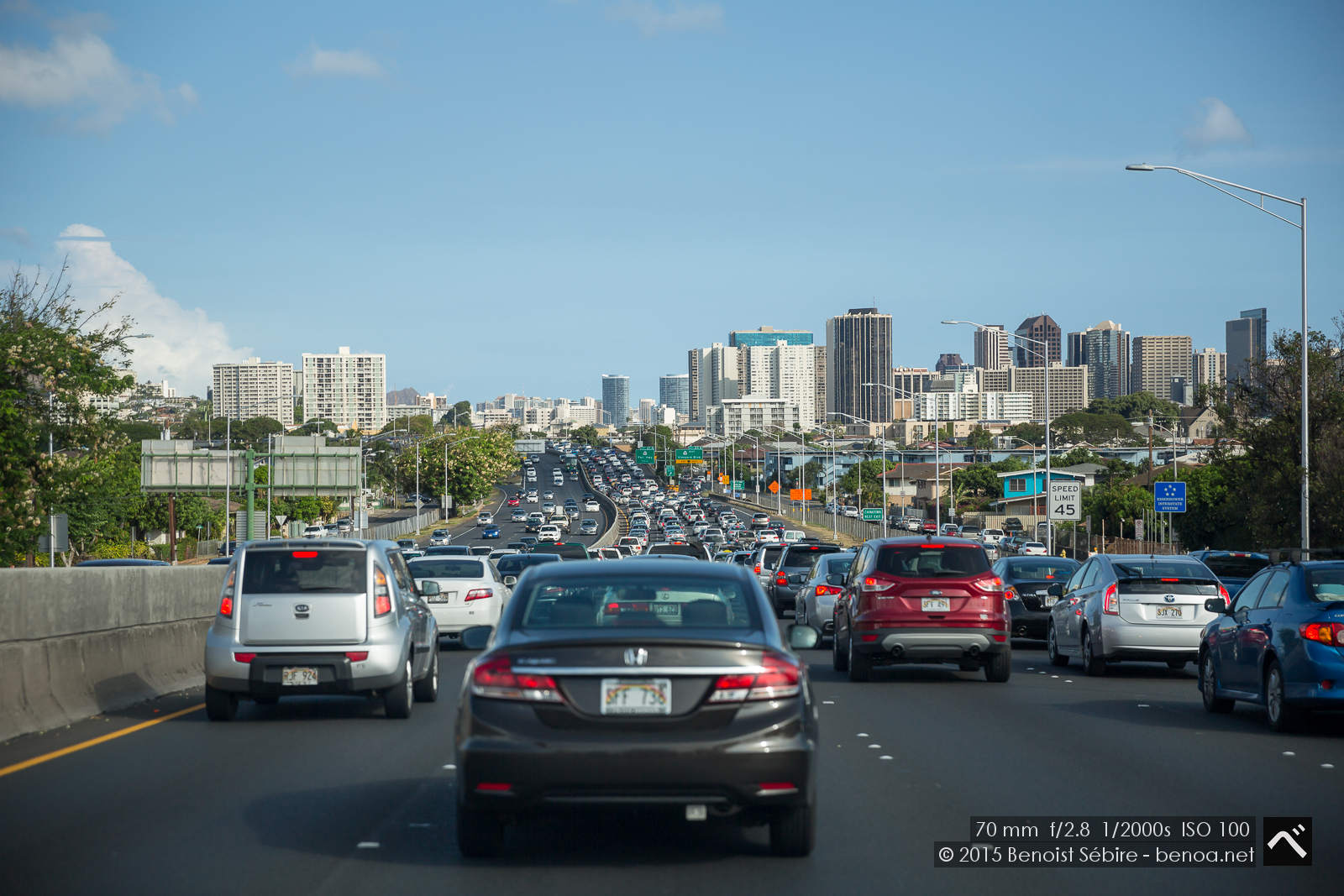 Honolulu Traffic Jam
